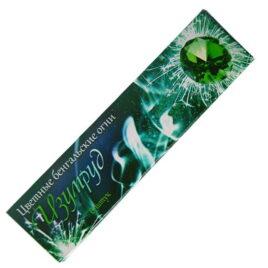 Свеча бенгальская цветопламенная Изумруд 6 шт